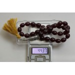 44 g. Natural Baltic amber rosary imam color brown
