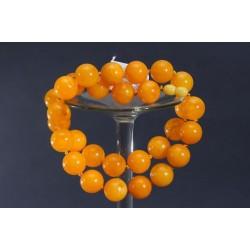70 g. Vintage Cherry red amber Bakelite graduated art deco necklace