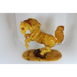 """807. """"Horse"""" sculpture (figurine) carved from 100% natural Baltic amber stone"""