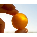"""15 g. """"ball"""" sculpture (figurine) carved from 100% natural Baltic amber stone"""