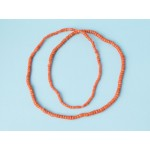 27 g. Vintage natural red coral necklace antique undyed red coral jewelry (salmon boho ethnic art deco coral necklace)