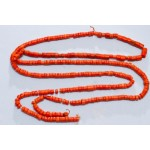 50 g. Vintage natural red coral necklace antique undyed red coral jewelry (salmon boho ethnic art deco coral necklace)