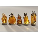 100% Baltic amber stones pendants with loops 4,5g