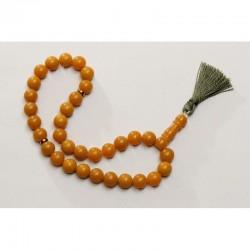 Natural Baltic amber vintage rosary / mala honey color 49g