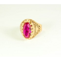 Vintage 14K gold ring with ruby 7.1 gr.