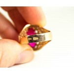 Vintage 14K gold ring with ruby