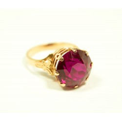 Vintage 14K gold ring with ruby 4.4 gr.