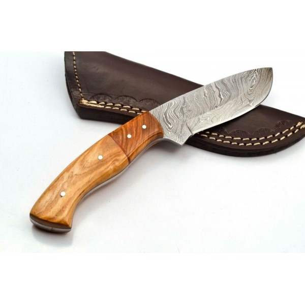Hiking knife damascus steel hunting combat work