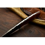 Everyday carry hiking damascus steel knife work wood