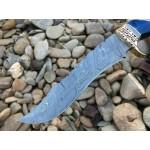 Damascus steel knife, with original leather sheath, pakka wood handle, hunting knife, sharp hand knives, work knives, handmade knife