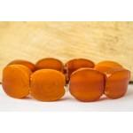 15.4 g. Vintage 100% natural Baltic amber bracelet cognac color