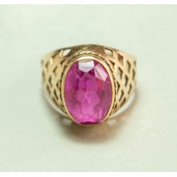 Vintage 14K gold ring with ruby 5.9 gr.
