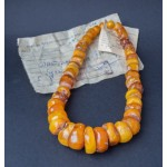 91 g. Vintage 100% natural Baltic amber necklace