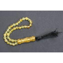 10.4 g. Vintage 100% natural Baltic amber rosary / mala, yellow/white color