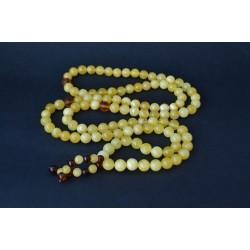 61 g. Baltic amber rosary (mala) white amber