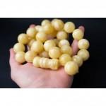 113 g. Baltic amber rosary (mala) white amber