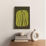 YAYOI KUSAMA painting, Mixed media printed on canvas panel on the wooden frames