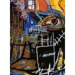"19,7"" JEAN-MICHEL BASQUIAT Head Mixed media printed on canvas"