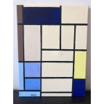 Piet Mondrian Composition London Painting Oil on canvas , Underframed, Handmade (Attrib.)