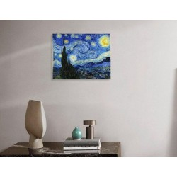 """VAN GOGH VINCHENT """"Starry Night"""" painting canvas not oil printed on canvas"""