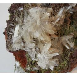 Natural hemimorphite stone crystal hematite mineral