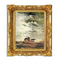 """32,3"""" GUSTAVE MOREAU """"Horseman"""" painting art printed on canvas"""