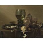 """22,4"""" WILLEM CLAESZ. HEDA Still Life with Gilt Goblet Mixed media printed on canvas painting"""