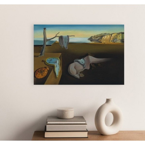 """28,4"""" SALVADOR DALI The Persistence of Memory Mixed media printed on canvas painting"""
