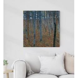 "Gustav Klimt ""Beech Grove"" painting not oil printed on canvas"