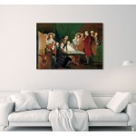 """24"""" Francisco Goya The Family of the Infante Don Luis Mixed media printed on canvas painting"""