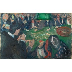 """21,3"""" Edvard Munch At the Roulette Table in Monte Carlo painting printed on canvas"""