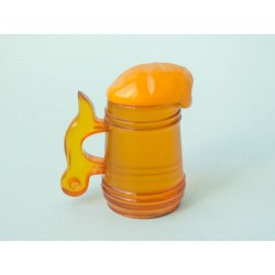 "27 g. ""Mug of beer"" sculpture (figurine) carved from 100% natural Baltic amber stone"