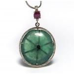 Trapiche Colombian emerald pendant